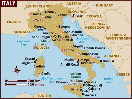 Italy Map Yeartripper