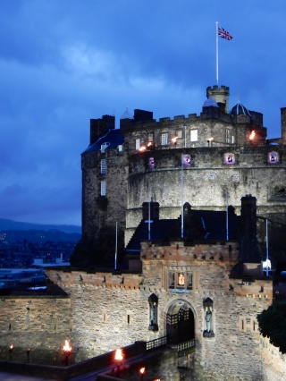 Edinburgh Castle during the Tattoo