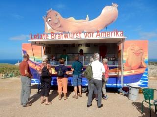 Last Bratwurst Before America, Sagres, Portugal