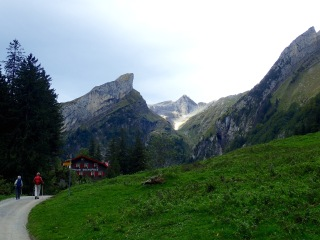 Seealpsee with Säntis in distance
