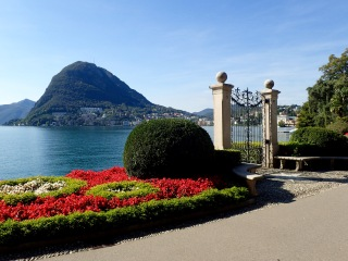 Mount San Giorgio from Lugano City Park