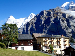 Eiger, Mönch and Jungfrau from Mürren