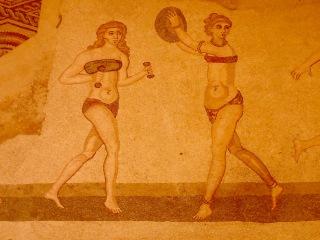 Bikini Girls mosaic, Villa Romano del Casale