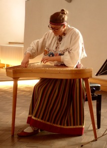 Kannel player, Museum of Estonian History, Tallinn