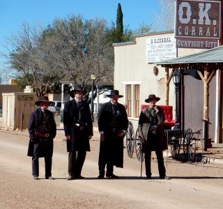 Gunfight reenactors, Tombstone AZ