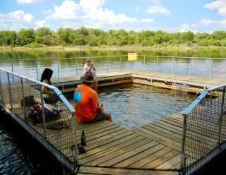 Swimming Pool, Ngepi Camp, Namibia